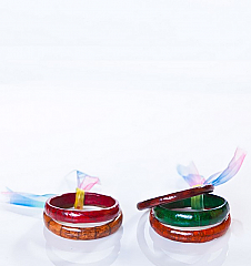 Angelo Cuore Alligator Bangles